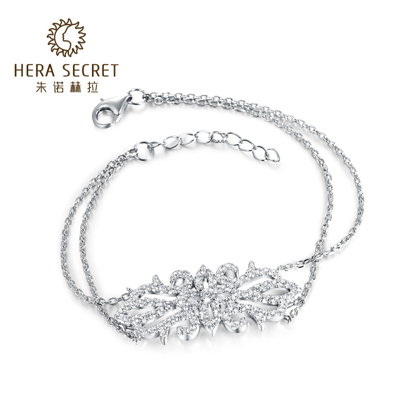 European and american original hera simulation diamond bracelet micro pave silver plated rose gold jewelry female beautiful palace tone