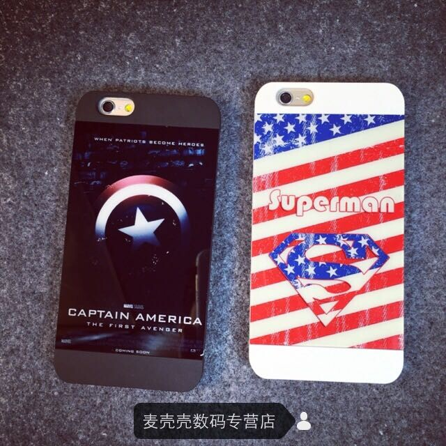 European and american style iphone6 phone shell apple 6 captain america superman superman shell protective shell plus