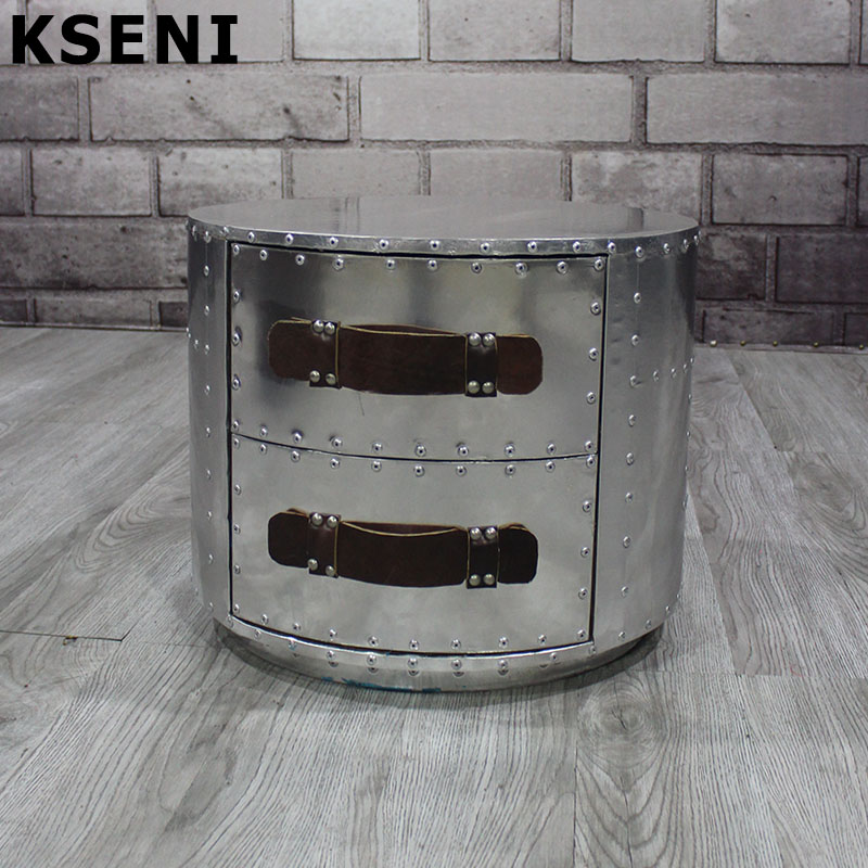 European and american style retro style bedside cabinet bedside cabinet industrial aluminum metal cabinet drawer chest of drawers cabinet lockers retro home