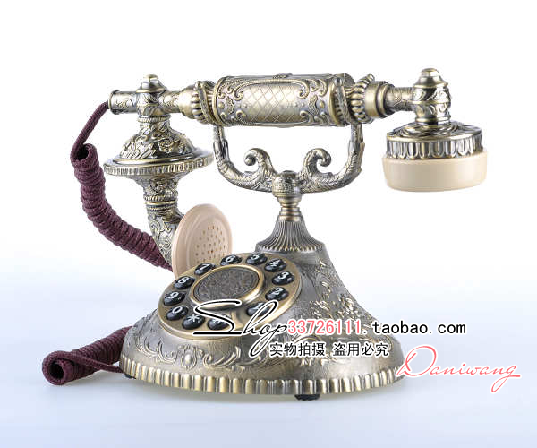 European antique telephones paramount 1931 prince end retro styling and creative small a full metal body