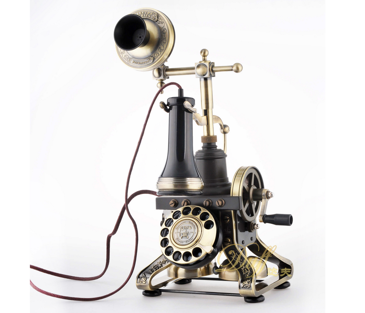 European antique telephones paramount rare gift metal rotating creative retro luxury villa home landline