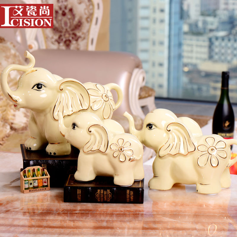 European ceramic crafts home decoration elephant ornaments modern minimalist furnishings creative living room office