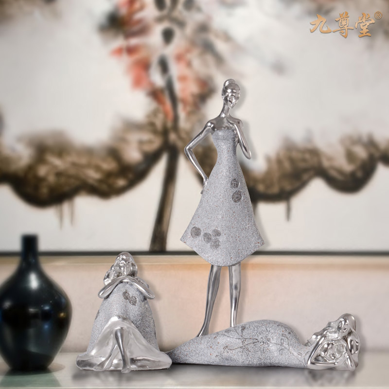 European creative home decoration crafts furnishings living room abstract character artwork marriage room ornaments wedding gift