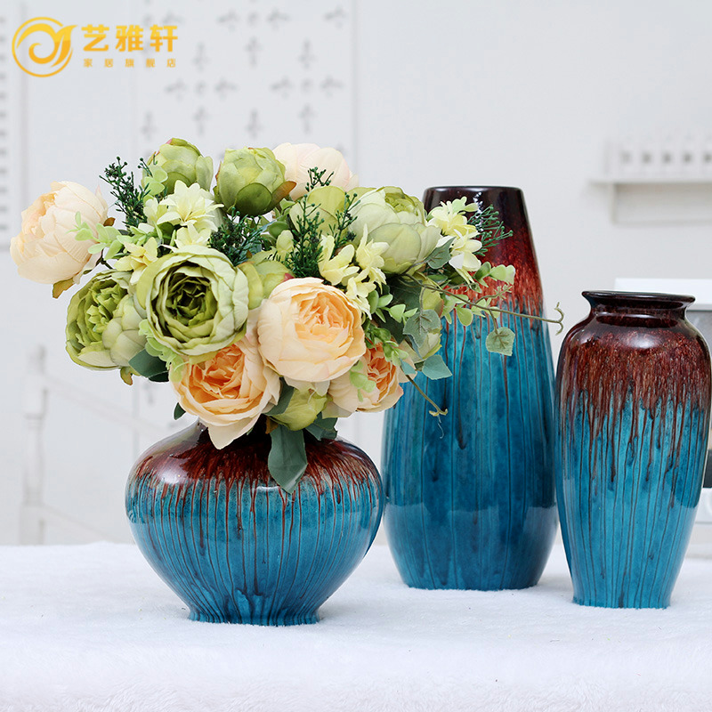 European high quality home accessories artificial flowers artificial flowers floral living room decorative artificial flowers silk flower peony flowers dried flowers