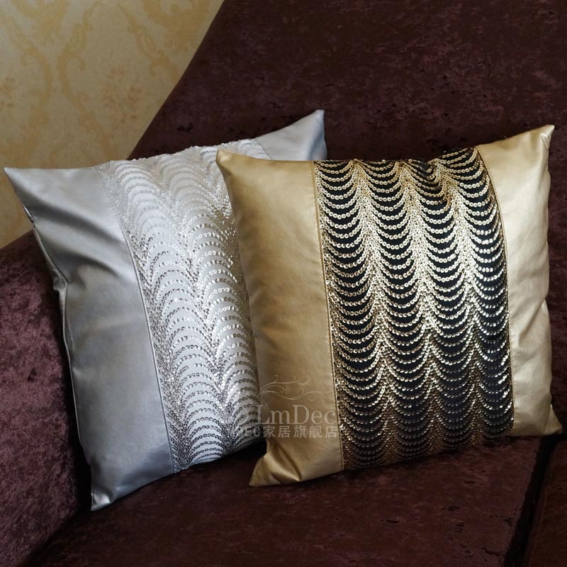 European luxury sequins bend month minimalist modern sofa pillow fabric pillow cover cushion cover lmdec