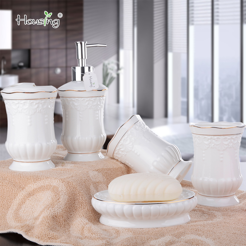 European minimalist ceramic bathroom wujiantao ivorysoapâwhen rinse cup gift set wedding supplies a family of four loaded
