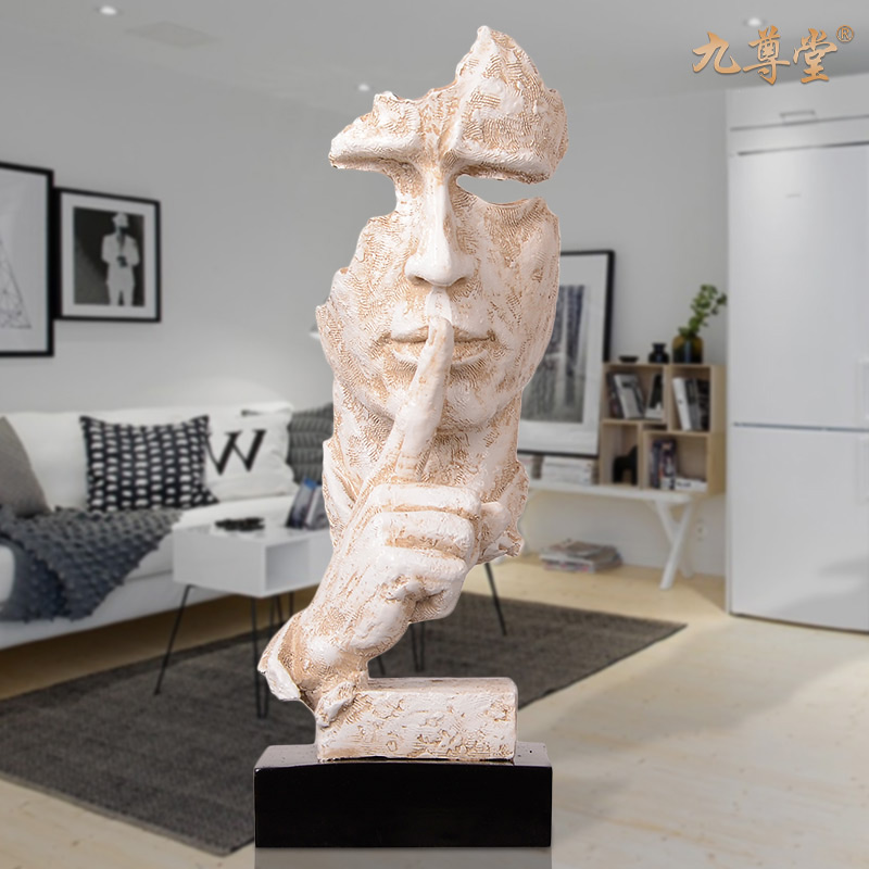 European modern minimalist home crafts ornaments creative home decor living room entrance pumping like figure art sculpture