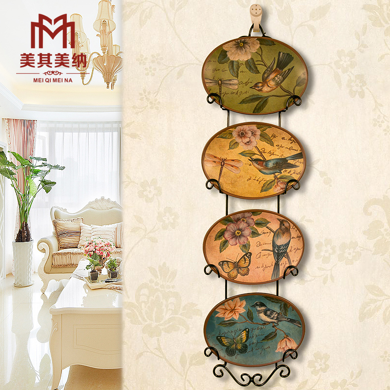 European pastoral american country bird painted decorative wall hangings decorative plate hanging plate wall hangings creative home crafts