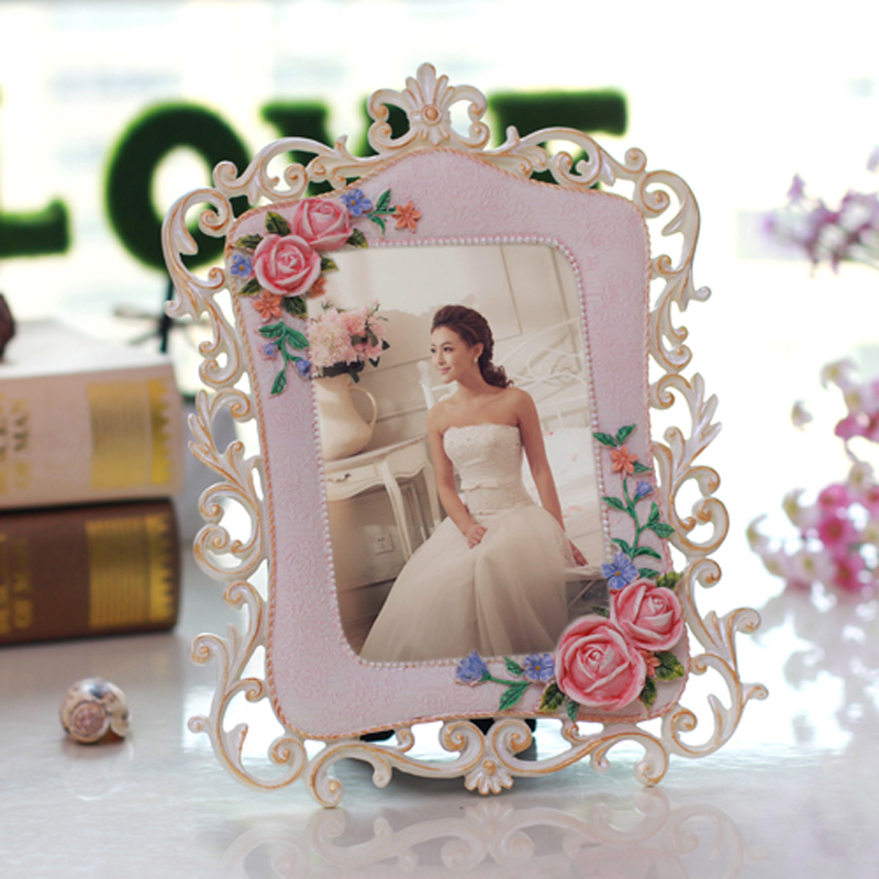 European pastoral resin photo frame photo frame retro swing sets studio rose classic american relief 6 inch 7 inch 10 inch