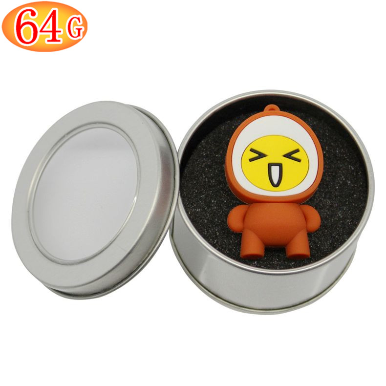 European super meng expression cartoon u disk u disk 64 gb personalized gifts usb u disk u disk lovely spiced corned egg g authentic free shipping