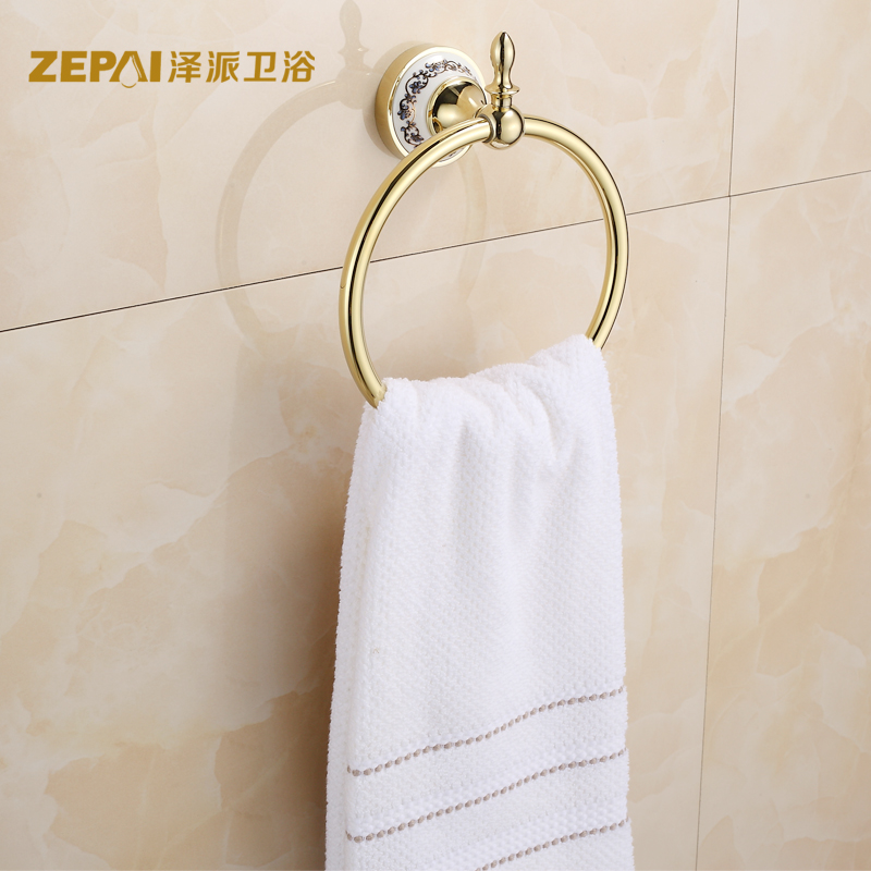 European towel ring towel rack towel rack stainless steel ring non suction gold space aluminum towel ring towel hanging ring