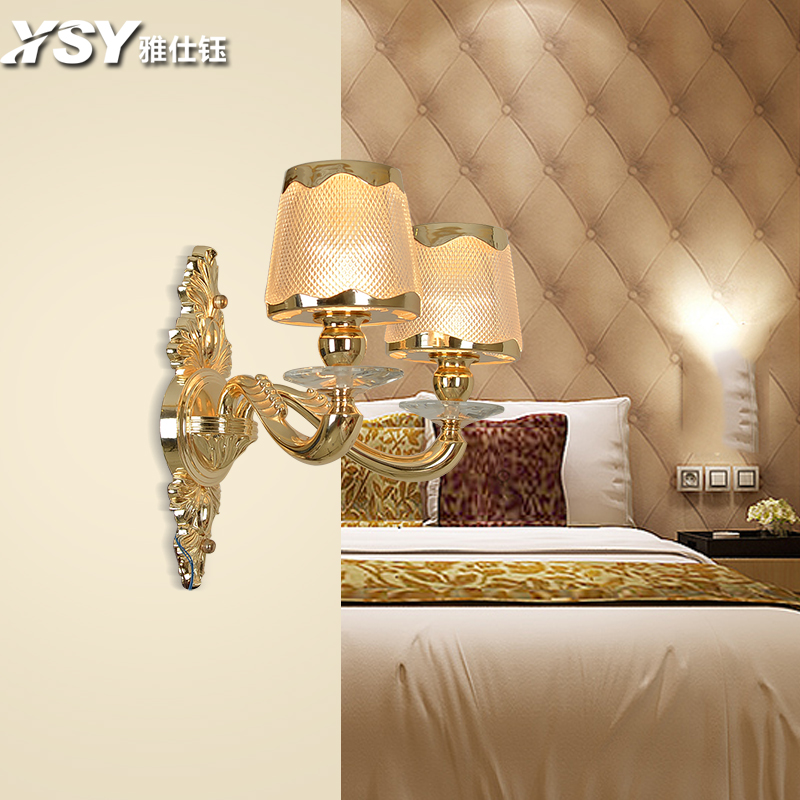 European wall lamp bedroom bedside wall lamp wall lamp aisle background living room wall lamp wall lamp simple european zinc alloy wall lamp wall lamp 8213-2