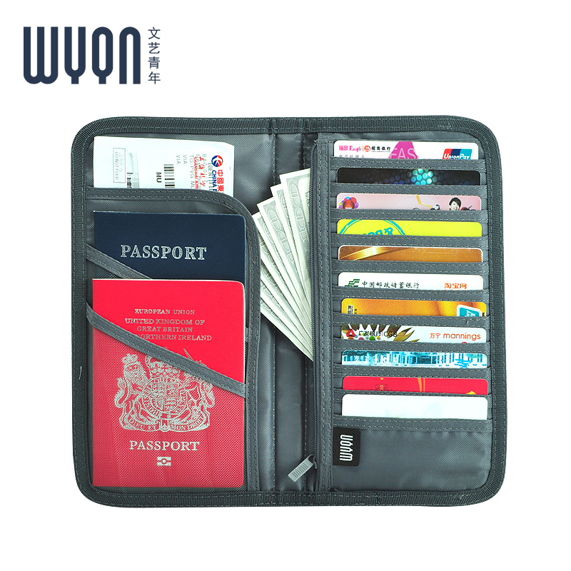 Evidence bag passport ticket passport holder passport package multifunction document sets protective sleeve bag essential travel abroad