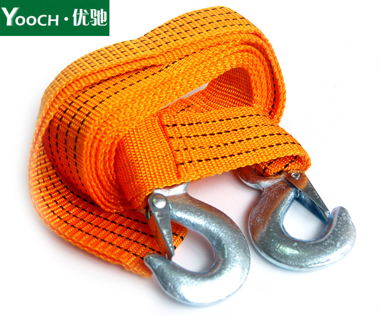 Excellent chi 4 m 3 tons of strong fluorescence tow rope tow rope to pull a cart rope car traction rope rescue emergency trailer with