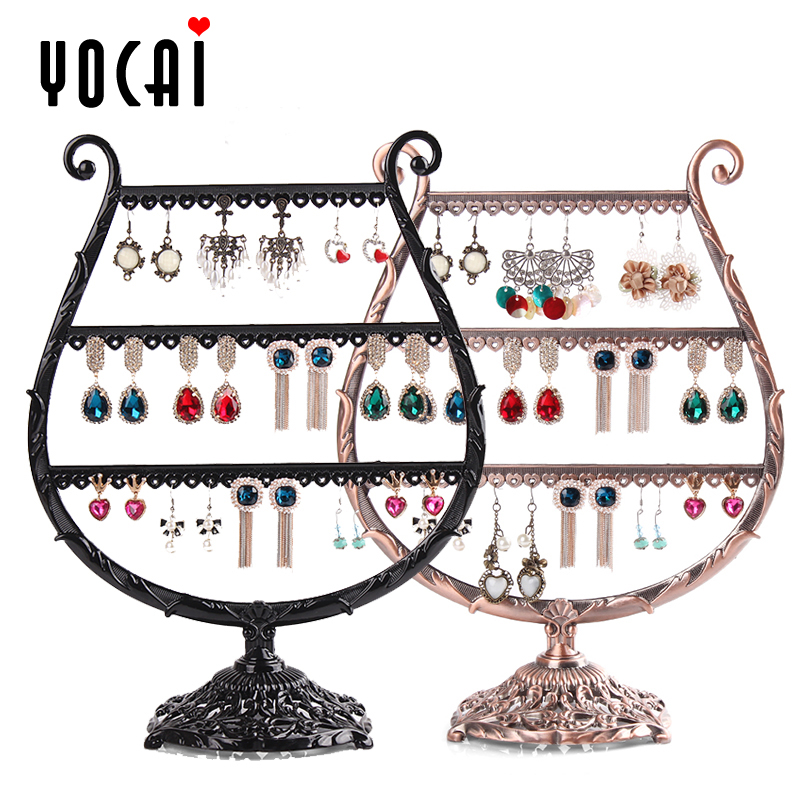 Excellent color watercups ear clip earring holder earring holder earring rack rack wrought iron retro korea creative jewelry rack