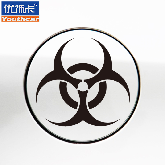 Excellent decorative card resident evil car stickers car fuel tank cap stickers personalized custom modified car stickers cover scratches block