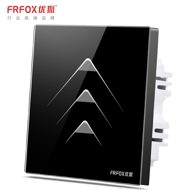 Excellent fox f6 intelligent touch switch touch switch panel wall switch three billing control zero firewire touch switch glass panel