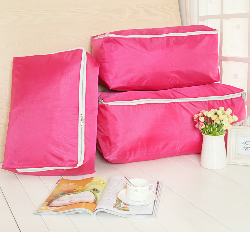 Excellent qi jia thick oxford cloth quilt quilt pouch large dust bag soft clothing finishing bag storage box