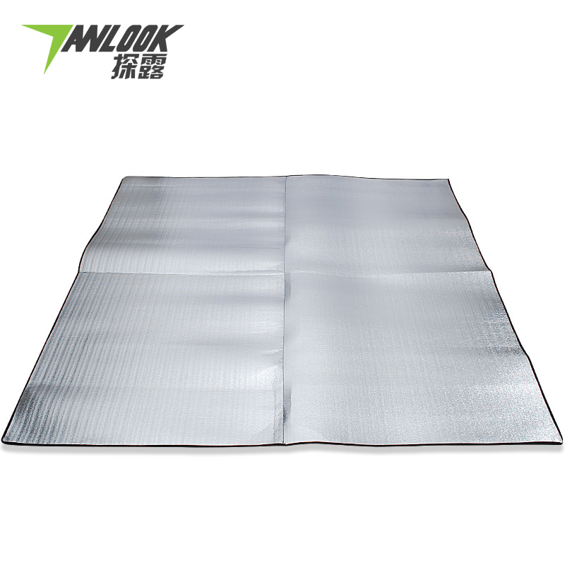 Exploration exposed aluminum moisture pad thickening widening oversized outdoor picnic mat crawling mat tent floor mats