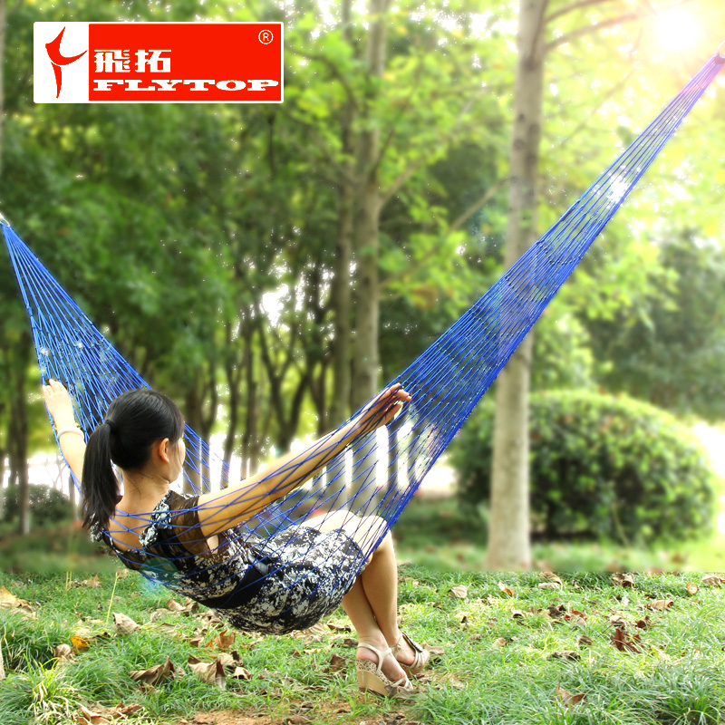Extension single bold mesh nylon rope hammock camping hammock swing send tying indoor and outdoor children's sleep dormitory room