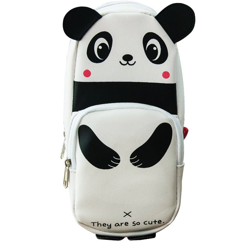 Extensive korea creative cute panda cortex large capacity pencil student pencil pencil box pencil case stationery multifunction