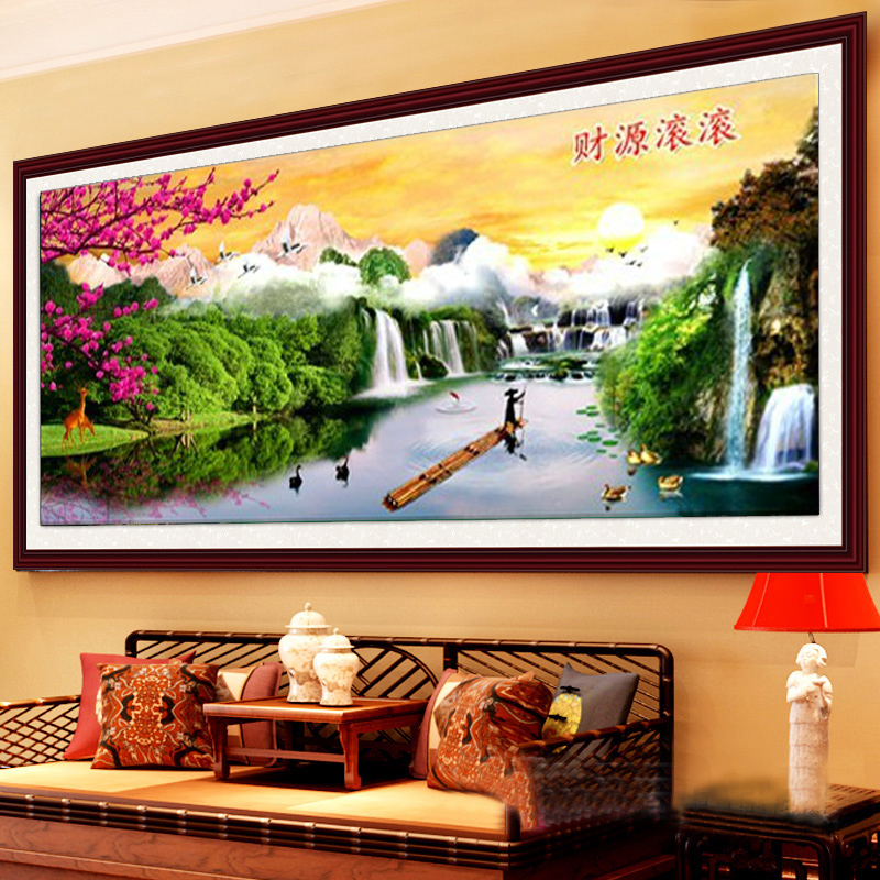 Extra cash fairyland stitch substantial new stitch living room landscape printing stitch stitch landscape painting