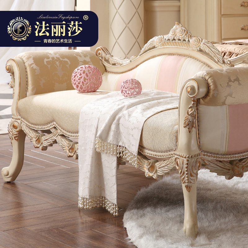 Fa lisha furniture wood stool changing his shoes stool bed end stool modern chinese new classical european benches special f1
