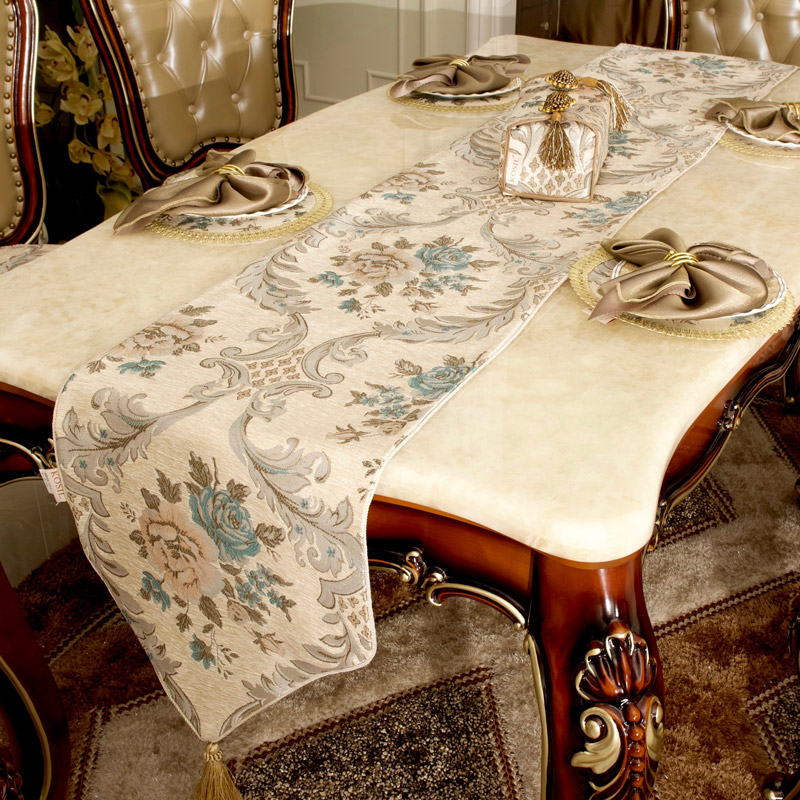 Get Quotations · Fabric Western European Luxury Table Runner Table Cloth  Tablecloths Coffee Table Mat Table Runner Tv Cabinet