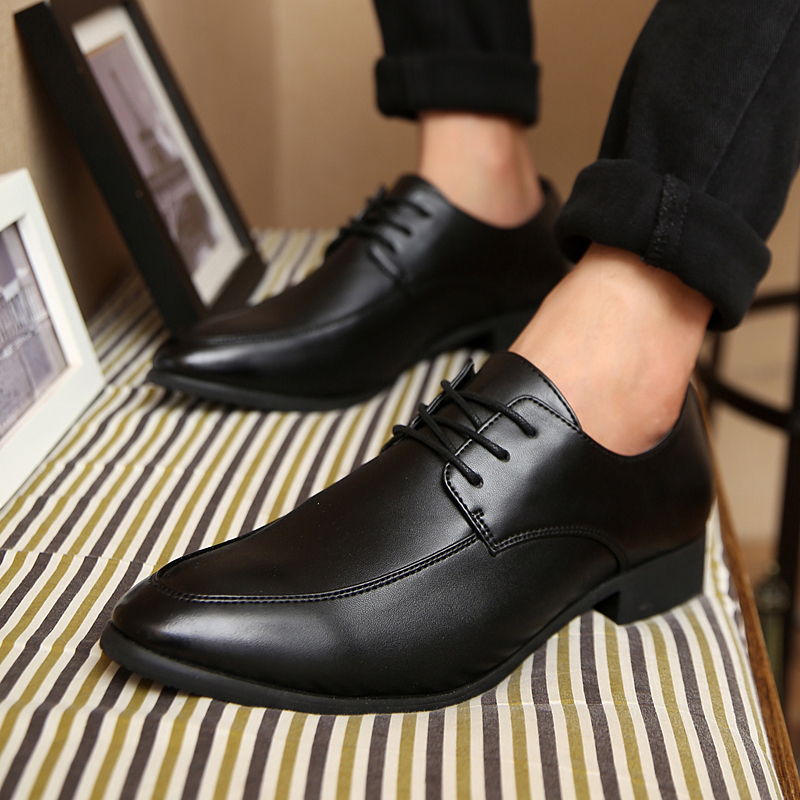8cf9bf2daafa8f Get Quotations · Fall classic men s casual shoes british style men s  personality hairstylist tide shoes small pointed shoes wedding