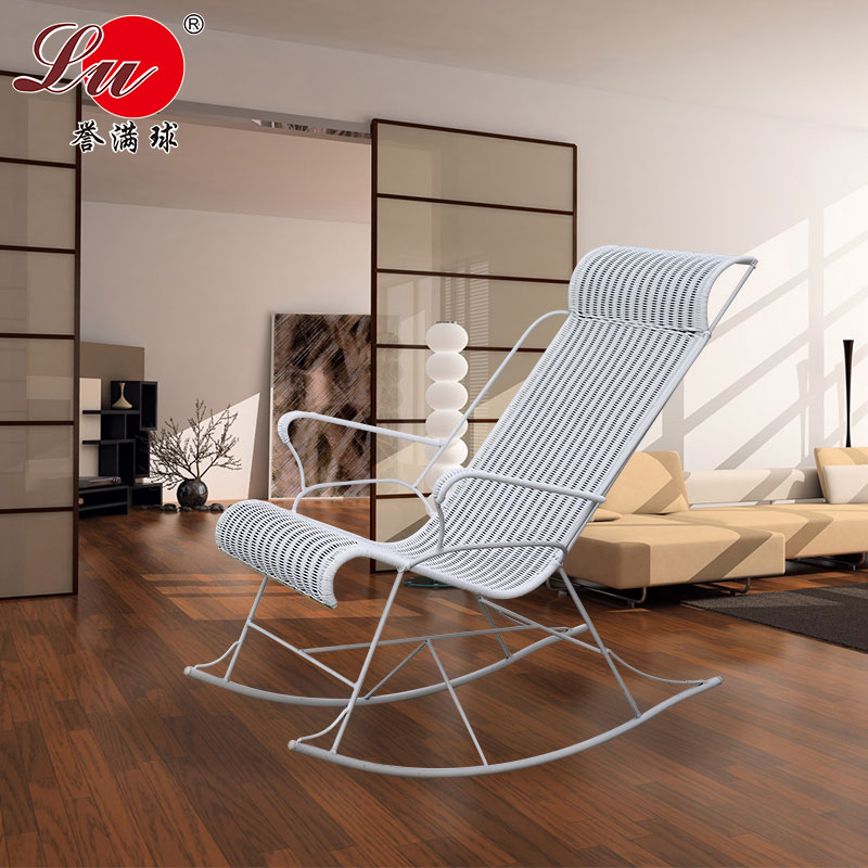 Get Quotations · Famed Ball Indoor Rattan Rocking Chair Siesta Chair  Elderly Balcony Casual Wicker Chair Rocking Chair Recliner