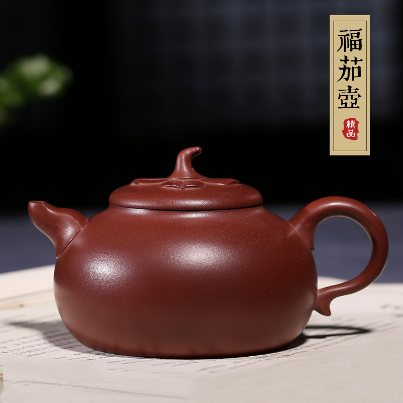 Famous yixing teapot pure handmade purple clay ore segment eggplant large kung fu tea pot of tea with genuine special