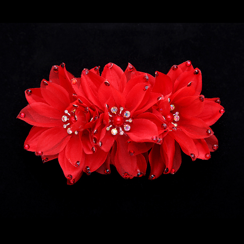 Fang xuan lan headdress korean hair ornaments handmade wedding jewelry bridal headdress flower head flower bud silk dress fashion