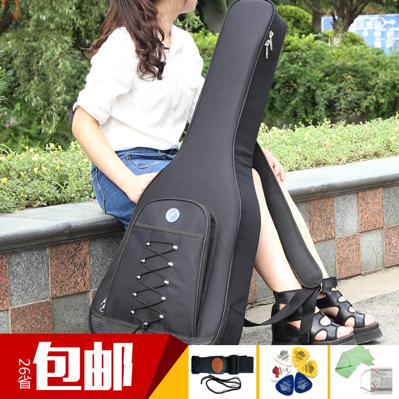 Fantinc counters korean version of the qin he folk classical/bass/electric guitar package 39/41 inch fashion simple double back