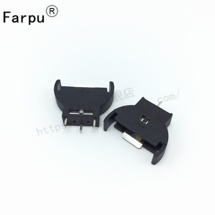 Farpu shu 2032 button battery holder cr2032 coin cell battery box battery holder verticle inline 10