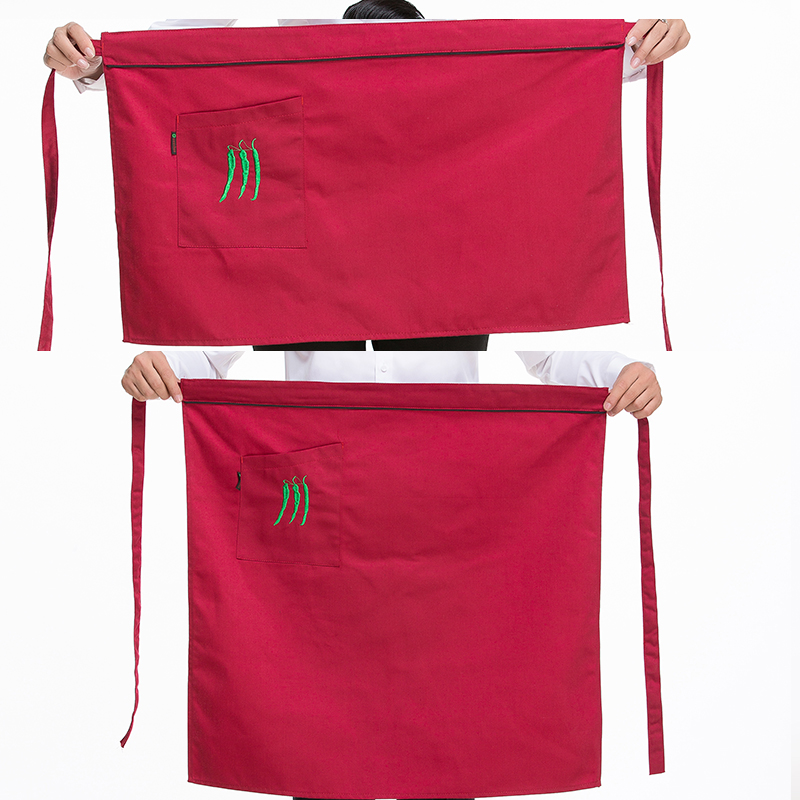 Fashion short paragraph bust apron restaurant cafe waiter aprons work aprons aprons korean home kitchen apron custom
