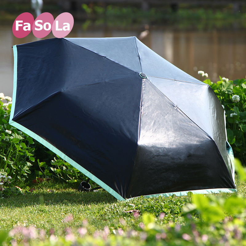 Fasola parasol umbrella folding umbrella rain or shine uv sunscreen three folding umbrella umbrellas woman light vinyl