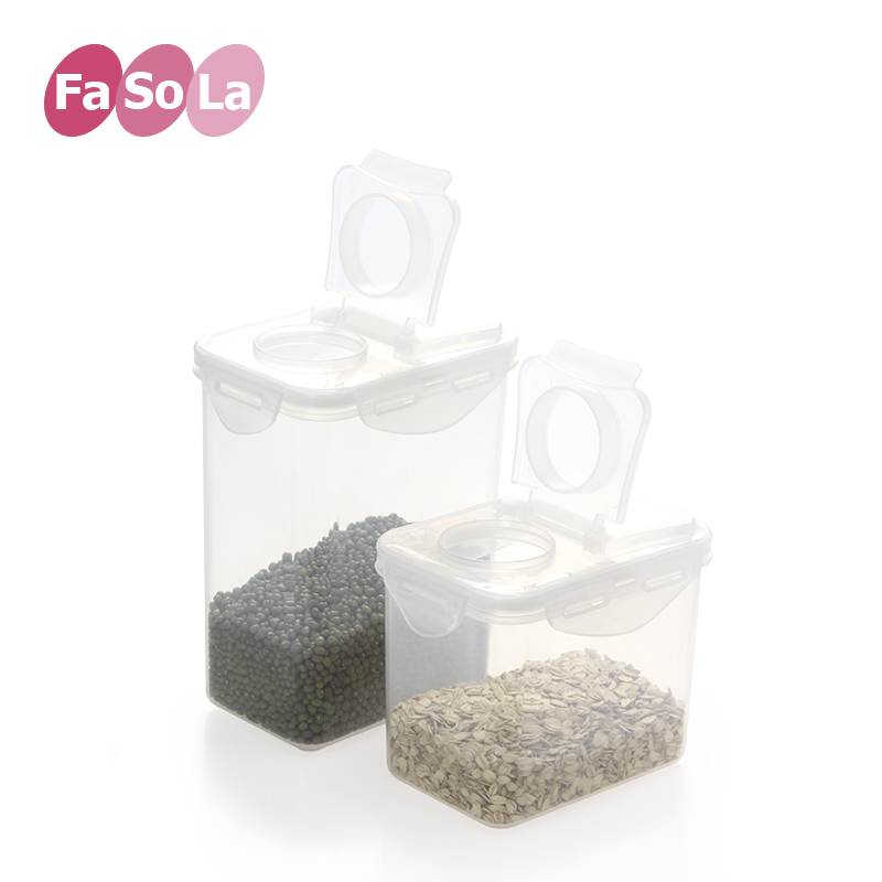 Fasola sealed cans grains storage storage box kitchen supplies plastic bottle jar food storage tank