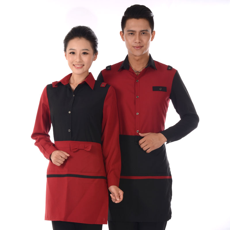 Fast food restaurant uniforms sleeved overalls fall and winter clothing fast food restaurant dessert fast food restaurant uniforms tooling female