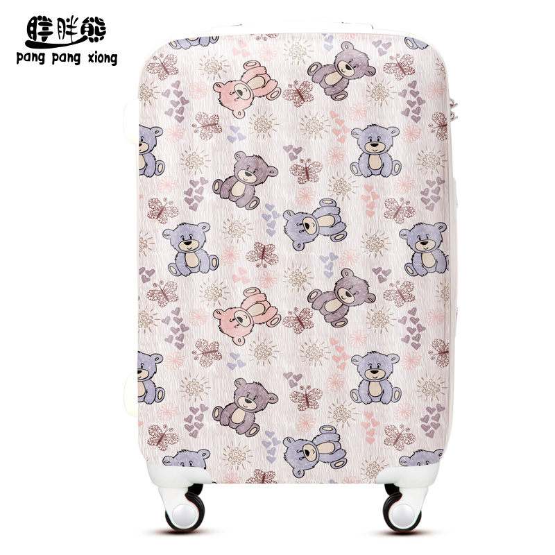 Fat bear cartoon bear fat lady luggage trolley large capacity cute students drag me suitcase WLH266