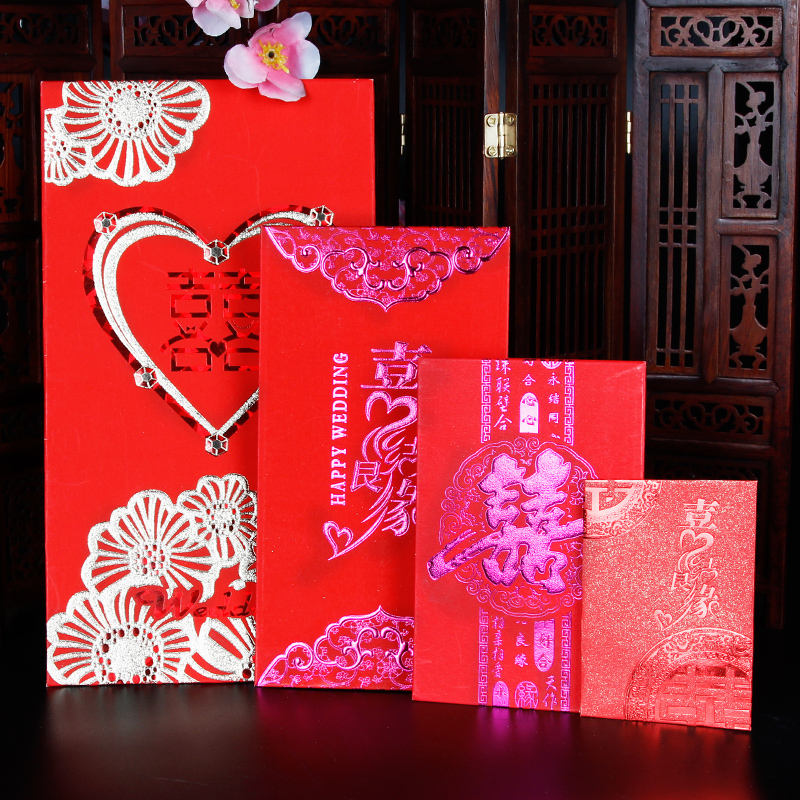 Favor wedding supplies wedding double happiness wedding gift bag thousand yuan lee is married red envelopes sealed envelopes changed to ten thousand yuan ten thousand yuan creative personality
