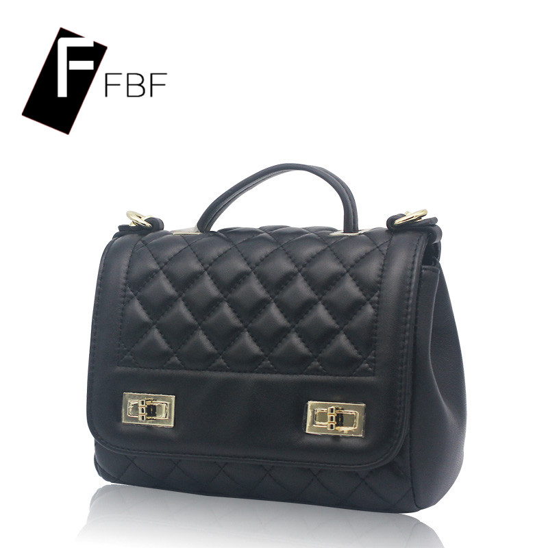 Fbf solid ms. european and american quilted chain bag shoulder bag messenger bag leisure bag handbag simple square box bag 5364