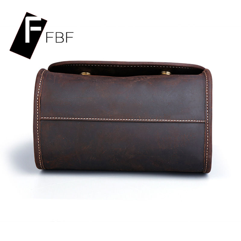 FBF2016 cylindrical leather ms. single solid color retro shoulder bag messenger bag outdoor travel bag 4971