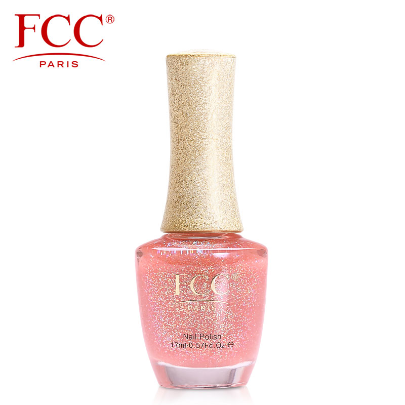 Fcc transparent flesh pink nude color pearl sequins nail polish free shipping soft pink pearl transparent jelly nail polish