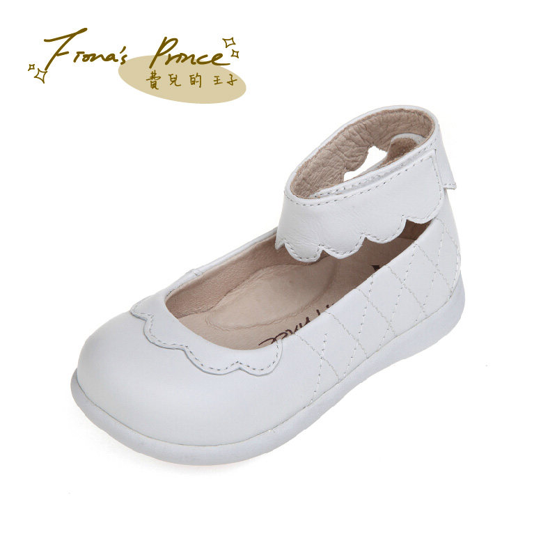 Fees children prince shoes female baby shoes children shoes leather shoes baotou princess shoes student shoes shoes black and white color