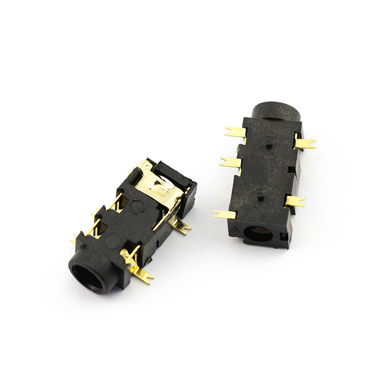 Fei bite smd headphone jack pj-327a gilded
