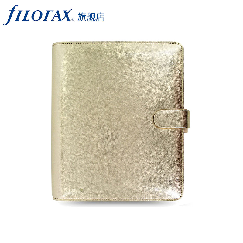 Fei shi for filofax saffiano it is true personal compact pocket golden ticklers