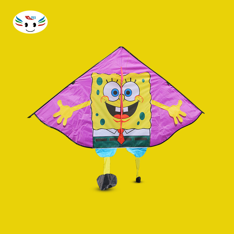 Fei yang weifang kite kite spongebob cartoon children long floating tail kite breeze off step installation