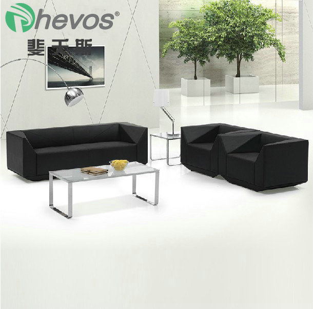 Fei yao adams diamond leather office sofa table combination of modern minimalist office reception parlor three bits 8