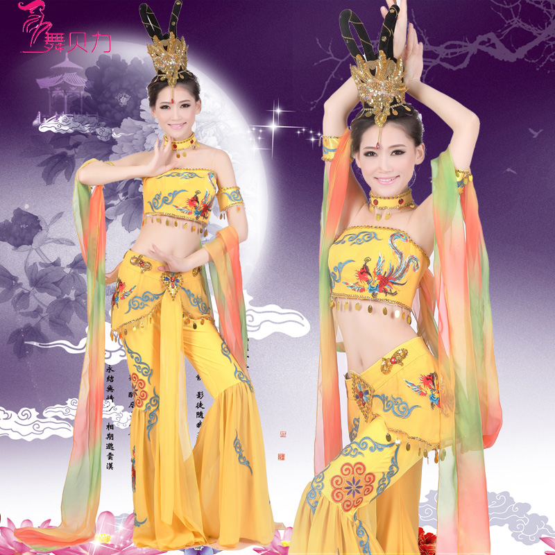 8ec27af15948 Get Quotations · Feitian moon sleeves dance costumes dance costume dance  folk dance costume dance party