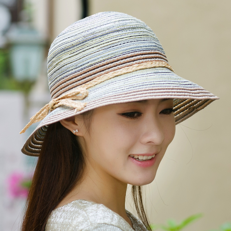 Female summer influx of large brimmed sun hat folding straw hat bucket hats sun hat beach hat sun hat fishing hat sun hat ladies summer